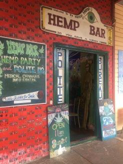 one of Nimbin's hemp bars