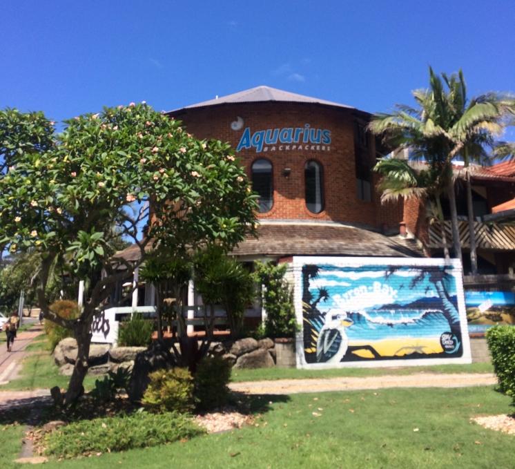 Aquarius hostel where we stayed, very nice!