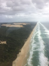 View of 75 Mile beach from above